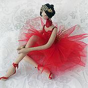 Куклы и игрушки ручной работы. Ярмарка Мастеров - ручная работа Балерина в красном. Handmade.
