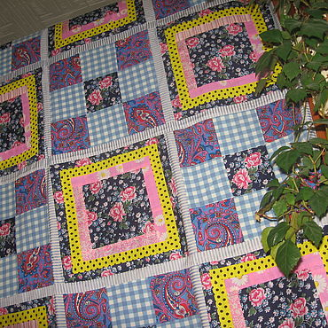 """Текстиль ручной работы. Ярмарка Мастеров - ручная работа Лоскутное одеяло  """"Благовест"""". Handmade."""