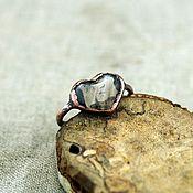 Украшения handmade. Livemaster - original item 15,5 ring with rutile quartz. Handmade.