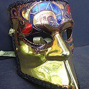 """Для дома и интерьера ручной работы. Ярмарка Мастеров - ручная работа Карнавальная маска """"баута"""" золото с узором. Handmade."""