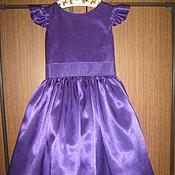 Работы для детей, ручной работы. Ярмарка Мастеров - ручная работа Детское платье из креп-атласа. Handmade.