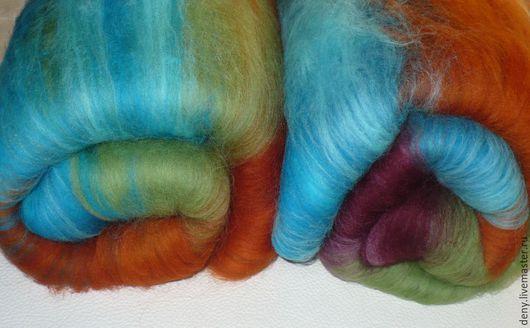 """Валяние ручной работы. Ярмарка Мастеров - ручная работа. Купить Бленд для валяния """"Extraordinary"""" меринос 18мкн. Handmade. Разноцветный"""