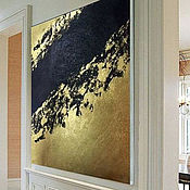 Картины и панно handmade. Livemaster - original item The Picture Black&Gold №9. Handmade.