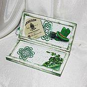 Для дома и интерьера ручной работы. Ярмарка Мастеров - ручная работа Банкнотница в подарок на свадьбу в ирландском (кельтском) стиле. Handmade.