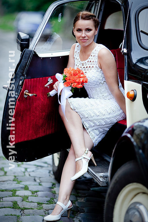 Clothing & Accessories handmade. Livemaster - handmade. Buy Crochet summer dress ' Retro'.Wedding, dress, white dress