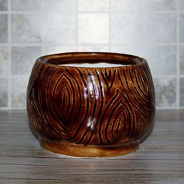 Посуда ручной работы. Ярмарка Мастеров - ручная работа Баночка Таинственное дерево 2. Handmade.