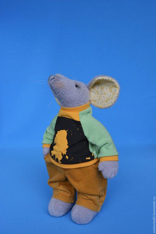 Текстильная мышь из меха микрофибры. Игрушки животные ручной работы. Подарок девочке.Подарок мальчику.  Мягкая игрушка мышь. Вешнякова Марина. Подарки для души.  Ярмарка