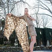 Одежда ручной работы. Ярмарка Мастеров - ручная работа Платье- туника в эко стиле. Handmade.