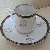 Винтаж handmade. Livemaster - original item The PAST Couple coffee antique, porcelain, Czechoslovakia. Handmade.