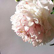 Цветы и флористика ручной работы. Ярмарка Мастеров - ручная работа Пионы реалистичные из холодного фарфора, полноразмерные. Handmade.
