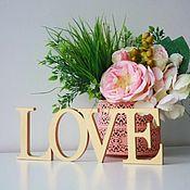 Сувениры и подарки handmade. Livemaster - original item Surround the words of wood,