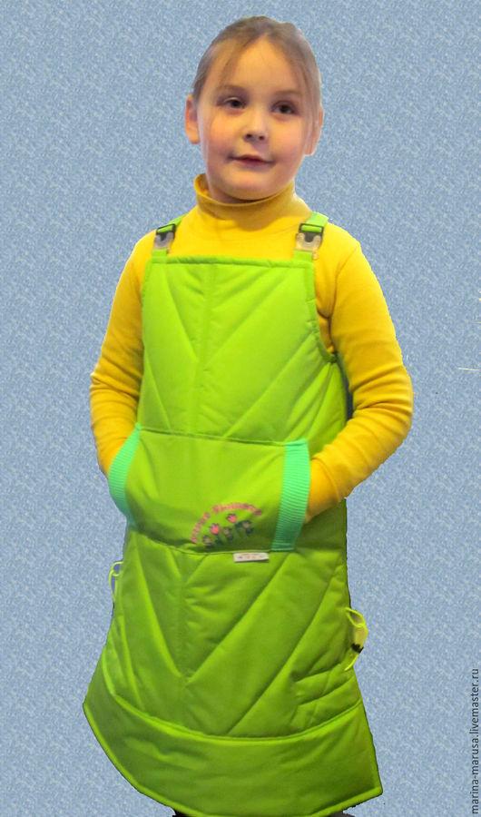 """Одежда для девочек, ручной работы. Ярмарка Мастеров - ручная работа. Купить Сарафан """" Первоцвет"""". Handmade. Салатовый, сарафан на осень"""