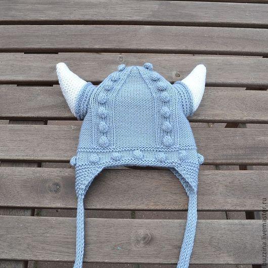 Шапки и шарфы ручной работы. Ярмарка Мастеров - ручная работа. Купить Шапка для мальчика из шерсти мериноса шапка Викинг. Handmade.
