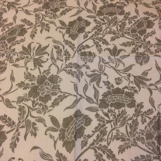 Серые фоновые цветы - салфетка для декупажа Декупажная радость