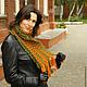 шарф женский, шарф крупной вязки, шарф шерстяной, плетеный шарф, шарф из толстой пряжи, толстый шарф, длинный шарф, шарф с кистями, шарф вязаный женский, шарф в полоску, шарф на зиму, шарф на осень