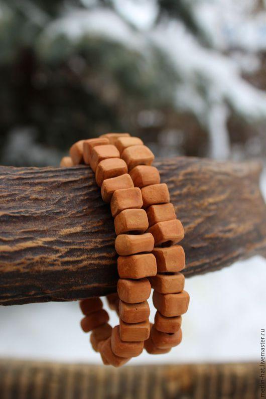 """Браслеты ручной работы. Ярмарка Мастеров - ручная работа. Купить Керамический браслет """"Терра-1"""". Handmade. Бусины, керамические бусины"""