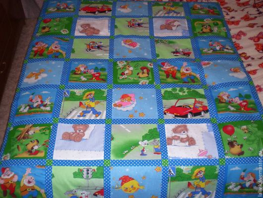 Пледы и одеяла ручной работы. Ярмарка Мастеров - ручная работа. Купить Детское одеяльце. Handmade. Одеяло, одеяло детское, синтепон