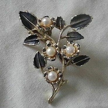 Vintage. Livemaster - original item Vintage enamel brooch. Handmade.