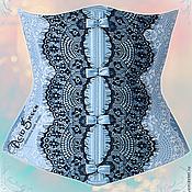 """Одежда ручной работы. Ярмарка Мастеров - ручная работа Корсет """"Dust Blue"""". Handmade."""