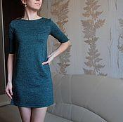 Одежда ручной работы. Ярмарка Мастеров - ручная работа Платье трапеция изумруд. Handmade.