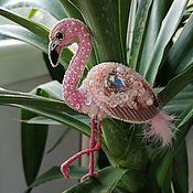 Украшения handmade. Livemaster - original item Brooch-pin: Flamingo. Handmade.