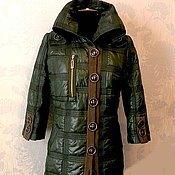 Одежда ручной работы. Ярмарка Мастеров - ручная работа Стёганое пальто из плащевки. Handmade.