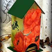 """Для дома и интерьера ручной работы. Ярмарка Мастеров - ручная работа Чайный домик """"Маковая акварель"""". Handmade."""