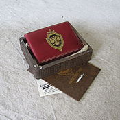 Канцелярские товары handmade. Livemaster - original item Cover of the FSB ID. ID card case. nominal cover.. Handmade.