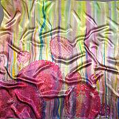 Аксессуары ручной работы. Ярмарка Мастеров - ручная работа Батик платок «Луковый цвет». Handmade.