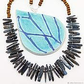 Украшения handmade. Livemaster - original item Beads of blue kyanite 48 cm. Handmade.