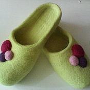 """Обувь ручной работы. Ярмарка Мастеров - ручная работа Тапочки """"Настроение"""". Handmade."""
