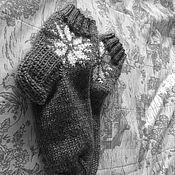 """Аксессуары ручной работы. Ярмарка Мастеров - ручная работа Носки """"Со снежинкой"""". Handmade."""