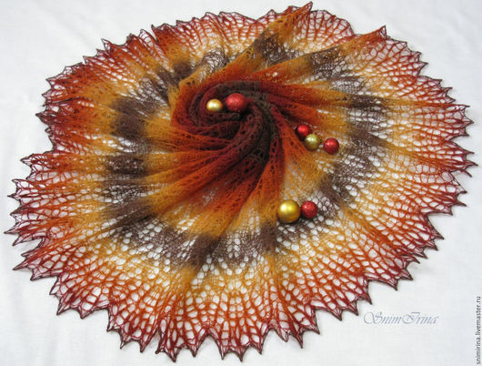 Шали, палантины ручной работы. Ярмарка мастеров - ручная работа. Купить шаль из кауни Свидание с осенью. Handmade. Разноцветная, рыжая, кауни. Краски осени.