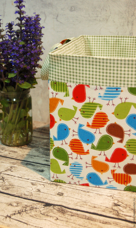 Textile basket for toys 'birds', Basket, Vladimir,  Фото №1