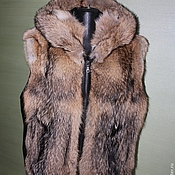 Одежда handmade. Livemaster - original item Fur vest coyote. Handmade.