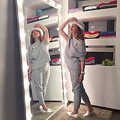 Для дома и интерьера ручной работы. Ярмарка Мастеров - ручная работа Напольное зеркало с подсветкой из лампочек. Handmade.