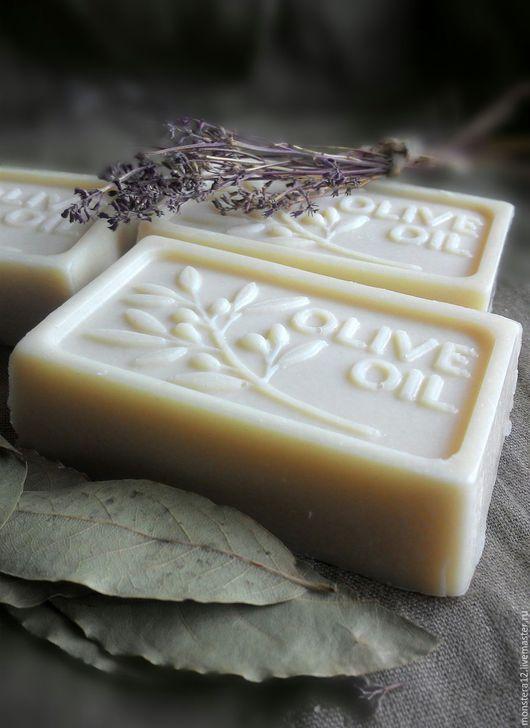 Мыло ручной работы. Ярмарка Мастеров - ручная работа. Купить Марсельское (оливковое) натуральное мыло с нуля.. Handmade. Белый