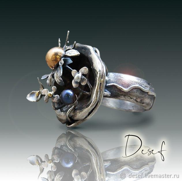 Ring 'BLACK PEARL', Rings, Kurgan,  Фото №1