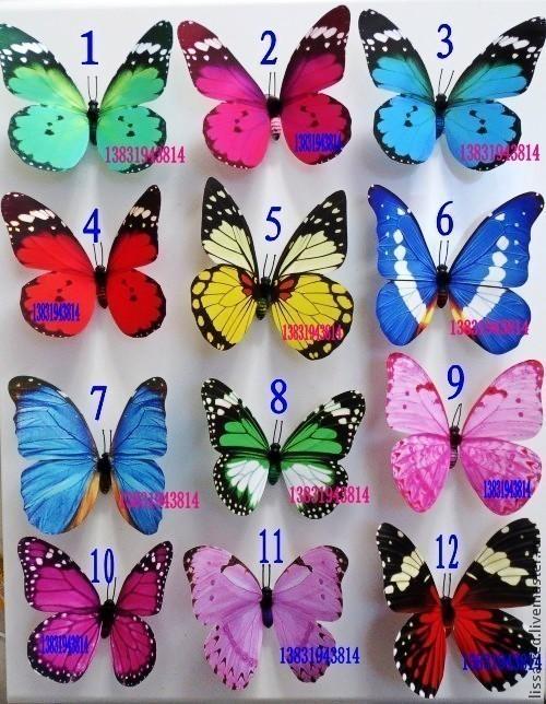 Другие виды рукоделия ручной работы. Ярмарка Мастеров - ручная работа. Купить Бабочки  с магнитиком В НАЛИЧИИ. Handmade. Белый