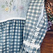 Одежда handmade. Livemaster - original item dresses: Dress made of jeans and linen