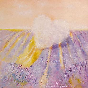 Картины и панно ручной работы. Ярмарка Мастеров - ручная работа Лавандовый сон облака. Handmade.