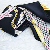 Аксессуары handmade. Livemaster - original item Women black silk scarves from Barberry fabric. Handmade.