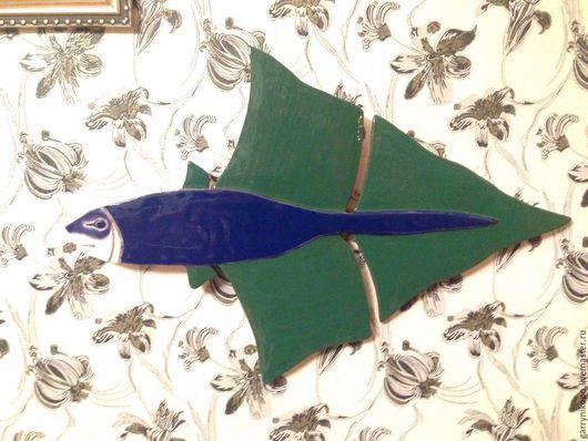 Элементы интерьера ручной работы. Ярмарка Мастеров - ручная работа. Купить Рыба панно. Handmade. Комбинированный, рыба, панно на стену