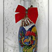 Подарки к праздникам ручной работы. Ярмарка Мастеров - ручная работа новогоднее шампанское. Handmade.