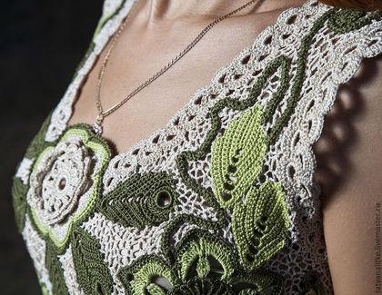 """Платья ручной работы. Ярмарка Мастеров - ручная работа Платье вязаное крючком """"Я-Весна"""". Handmade."""