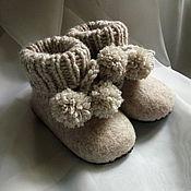Обувь ручной работы. Ярмарка Мастеров - ручная работа Тапочки - пинетки. Handmade.