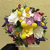 Цветы и флористика ручной работы. Ярмарка Мастеров - ручная работа Букет Невесты из полимерной глины. Handmade.