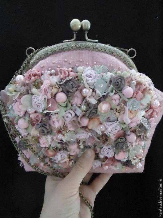 """Женские сумки ручной работы. Ярмарка Мастеров - ручная работа. Купить Сумочка """"Розовый зефир"""". Handmade. Розовый, вышитая сумочка"""