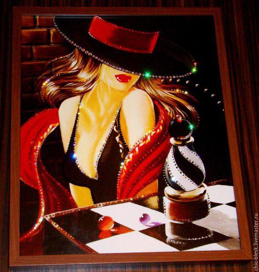 """Люди, ручной работы. Ярмарка Мастеров - ручная работа. Купить """"Дама в шляпе"""". Handmade. Комбинированный, картина в подарок"""