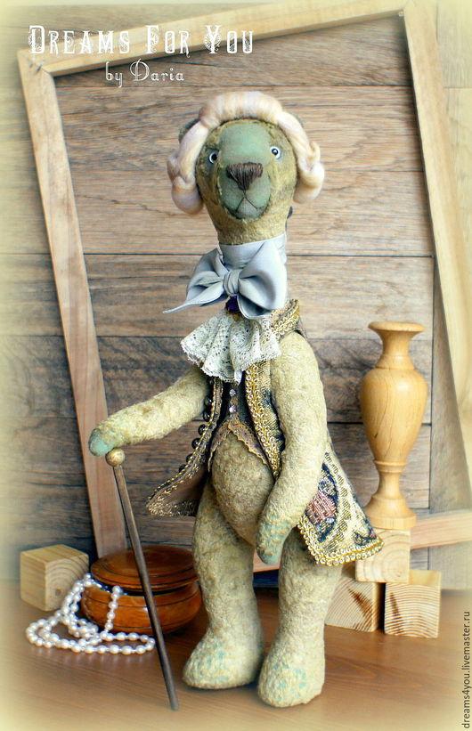 Мишки Тедди ручной работы. Ярмарка Мастеров - ручная работа. Купить Его Сиятельство... Авторский коллекционный мишка тедди. Handmade.
